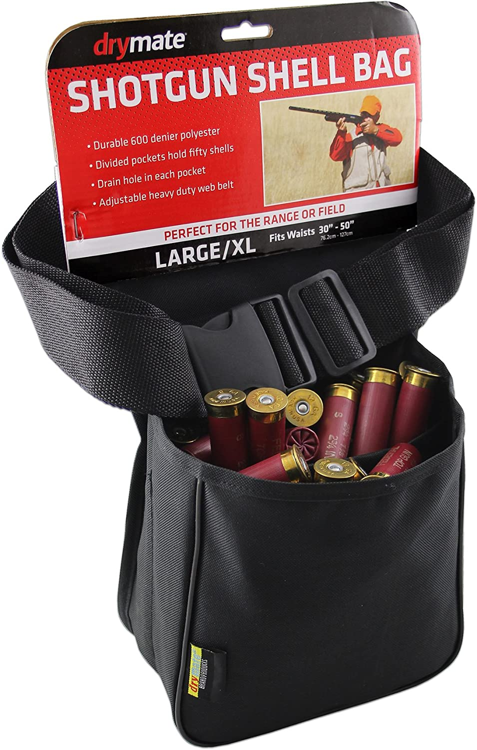 Drymate DSB-WBB Deluxe Five Pocket Shotgun Shell Bag with Belt NEW One Size