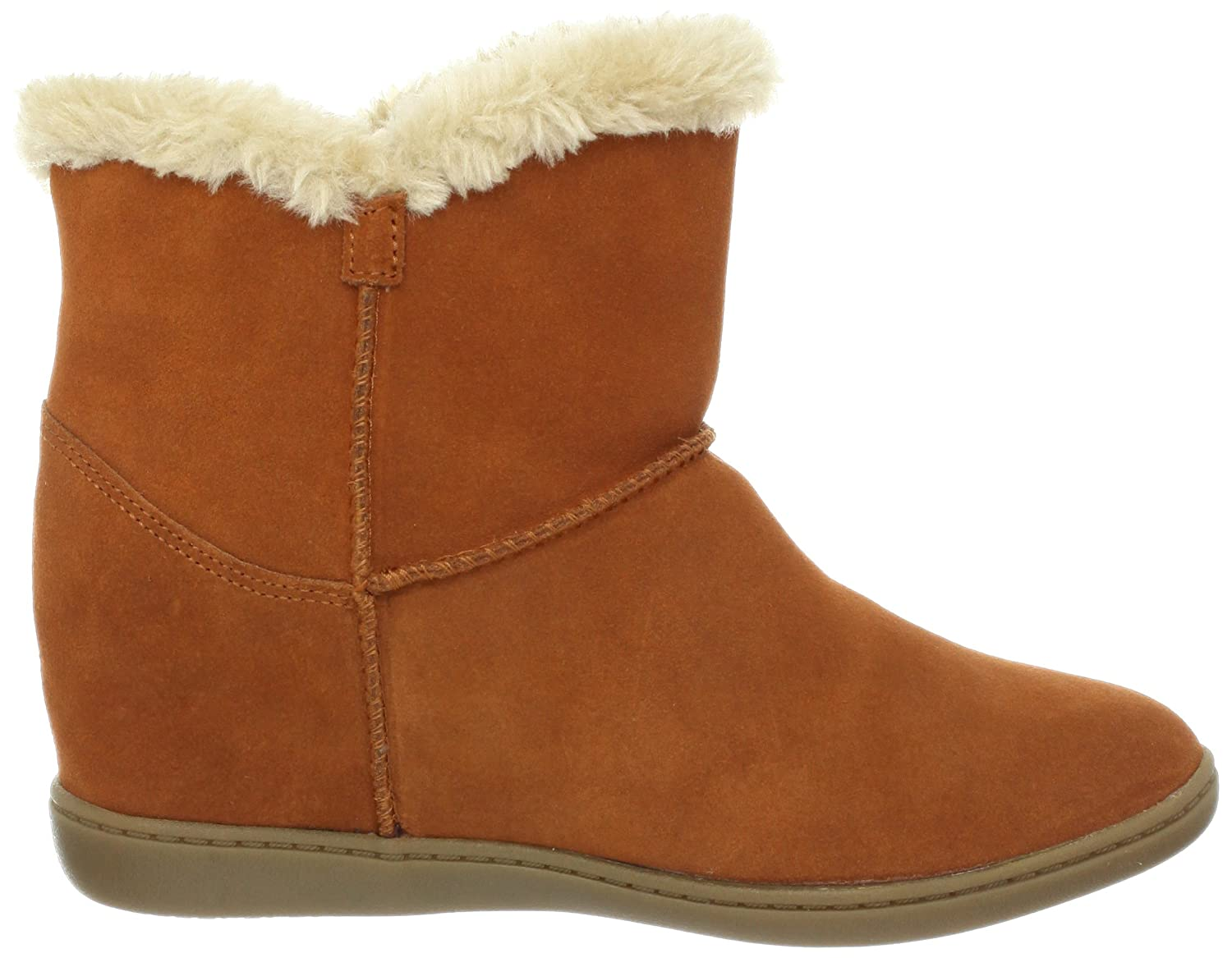 new product f73b3 f6a65 Amazon.com   Skechers Women s Plus 3-Cozy Up Boot, Rust, 8.5 M US   Ankle    Bootie