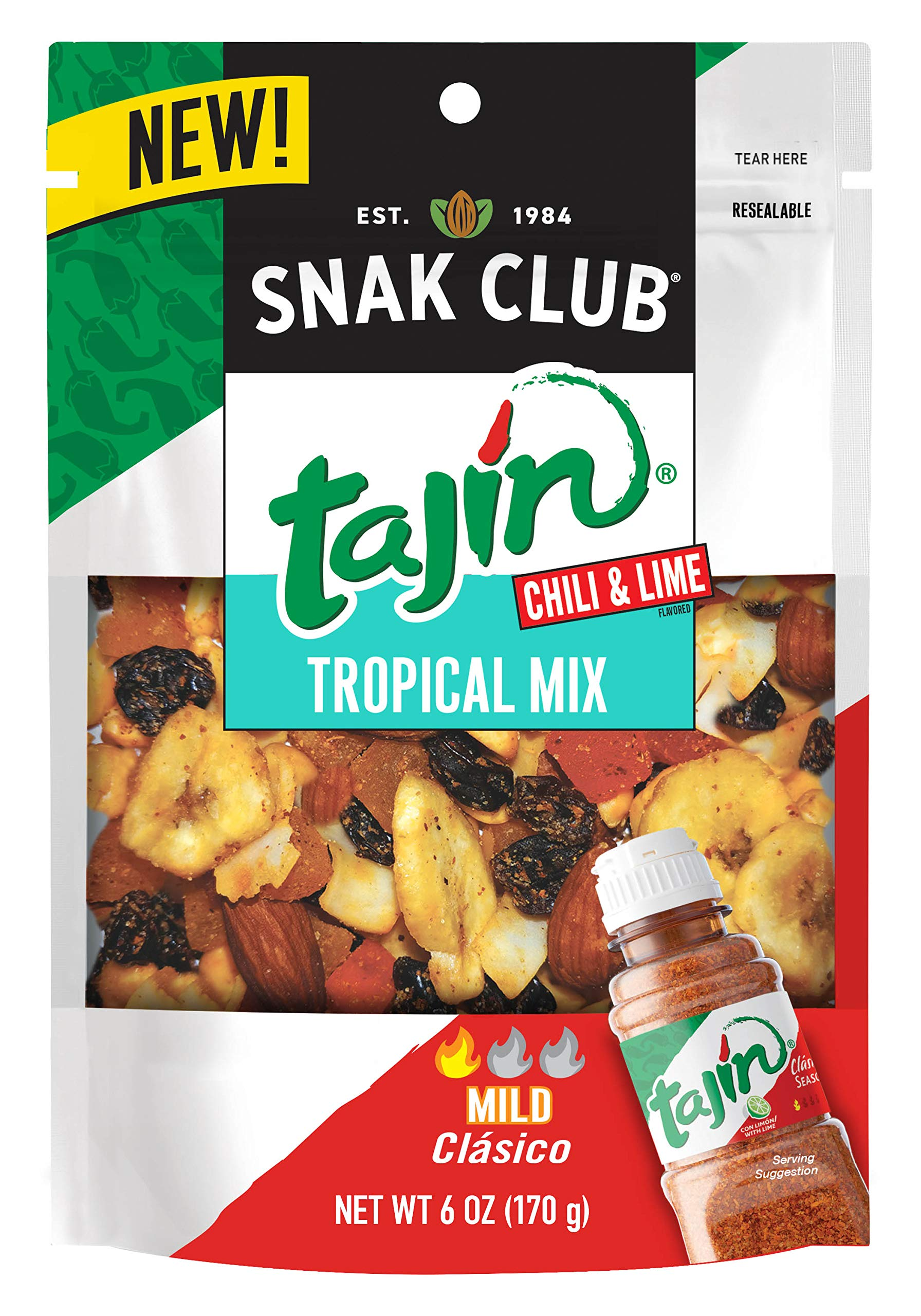Snak Club Snak Club Tajin Tropical Mix, 6-oz, 6-Pack, 6 Ounce by Snak Club (Image #1)