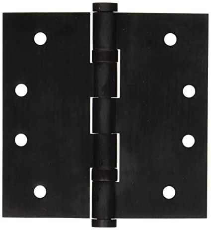 Baldwin 1041102I Square Ball Bearing Mortise Hinge, Oil Rubbed Bronze