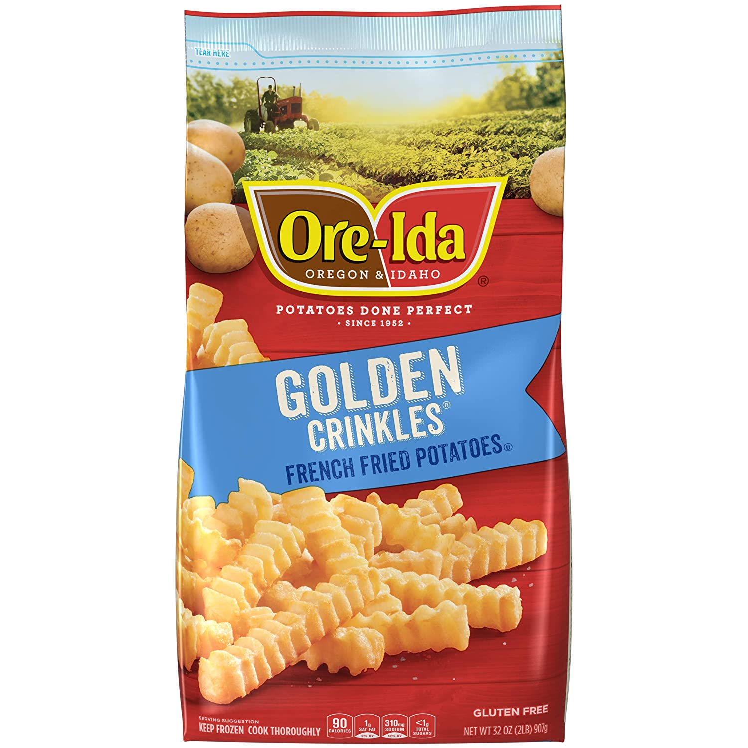 Ore-Ida Golden Crinkles Frozen French Fries (32 oz Bag)