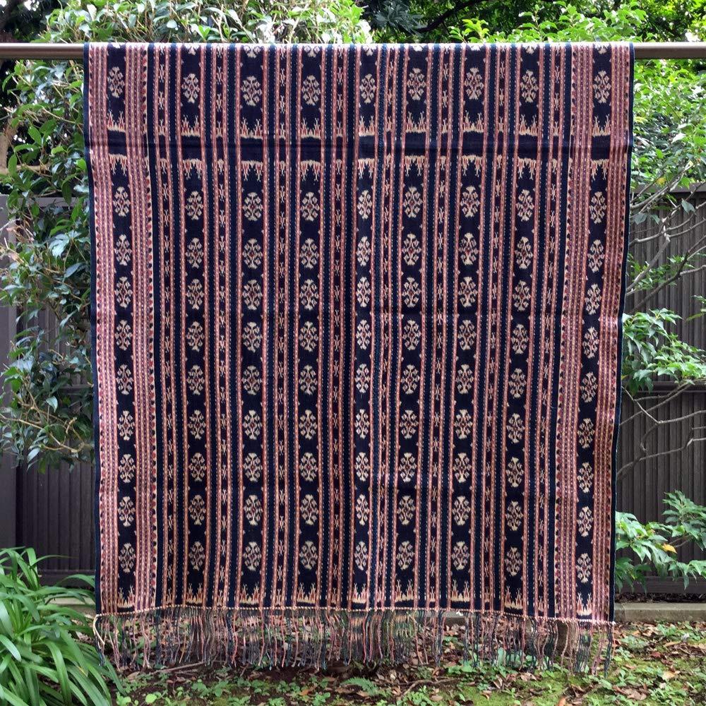 イカット サウ島 インドネシアの本物 アンティーク 絣織物 型番4014   B01CQT7CVW