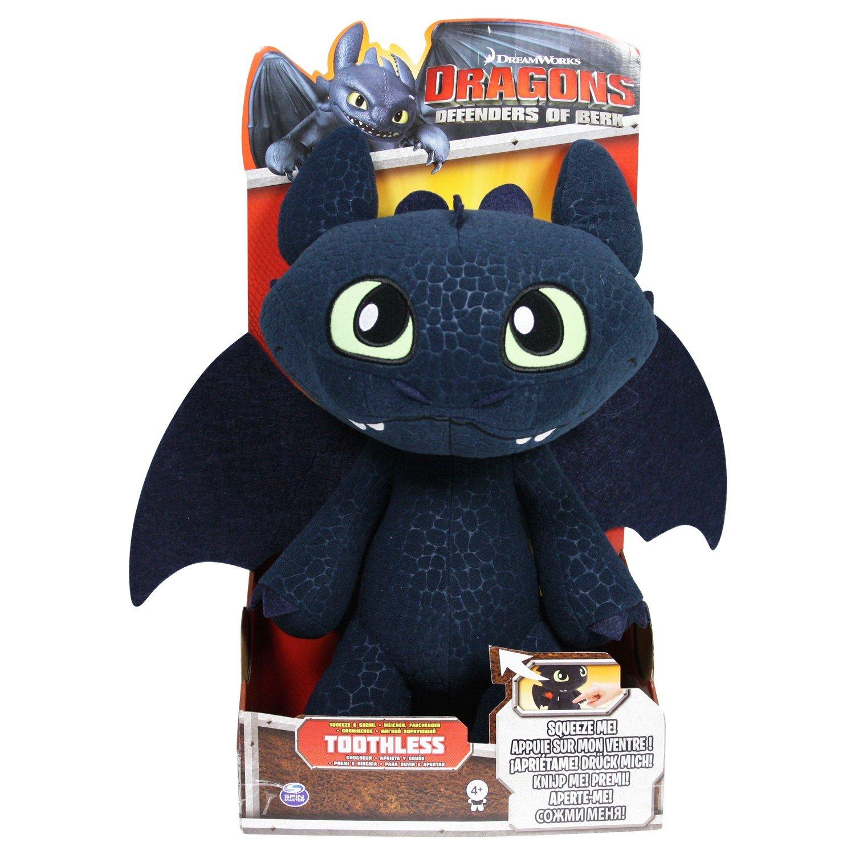 Spin Master 6027679 - DreamWorks Dragons - Deluxe Ohnezahn Funktionsplü sch 30cm - Frustfreie Verpackung 6020113 Figuren aus Film & Fernsehen