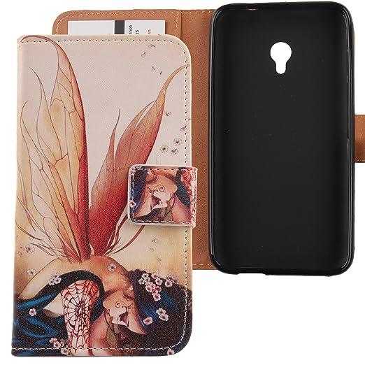 Amazon.com: Lankashi Pattern Design PU Flip Leather Cover Skin Protective Case for Vodafone Smart Turbo 7 VFD500 5