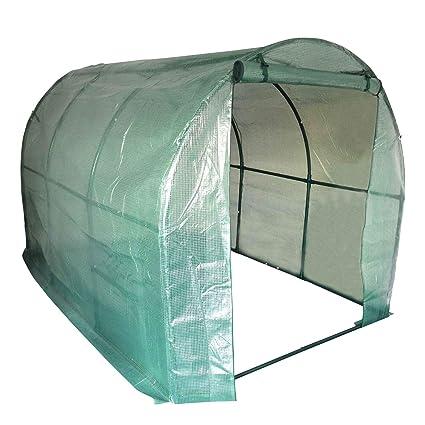 Harbour Housewares Invernadero caseta tubular con cubierta reforzada - 200x295cm
