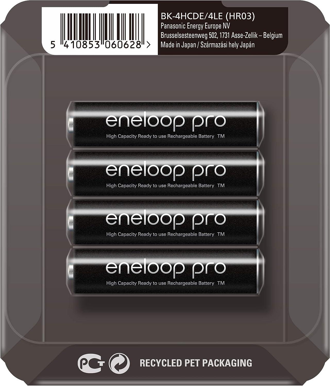 PANASONIC ENELOOP Pro R03/AAA 930MAH, 4 PCS, Sliding Pack: Amazon.es: Electrónica