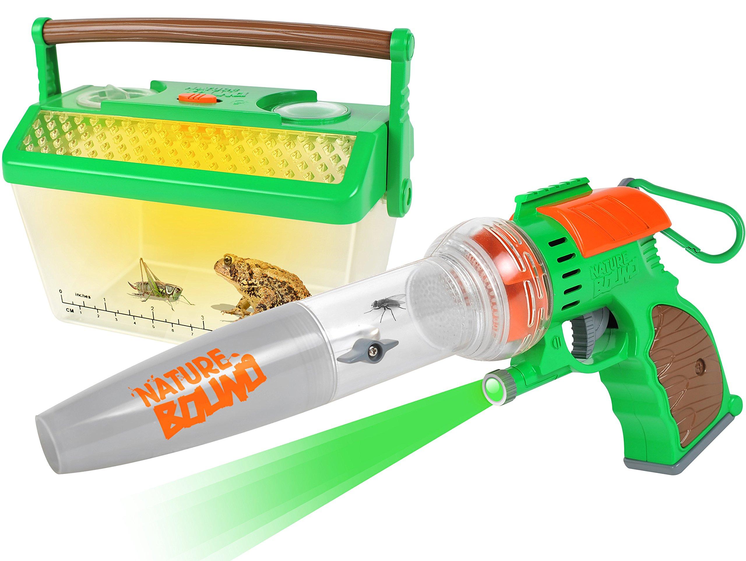 Nature Bound Bug Catcher Vacuum with Light Up Critter Habitat Case for Backyard Exploration - Complete kit for Kids