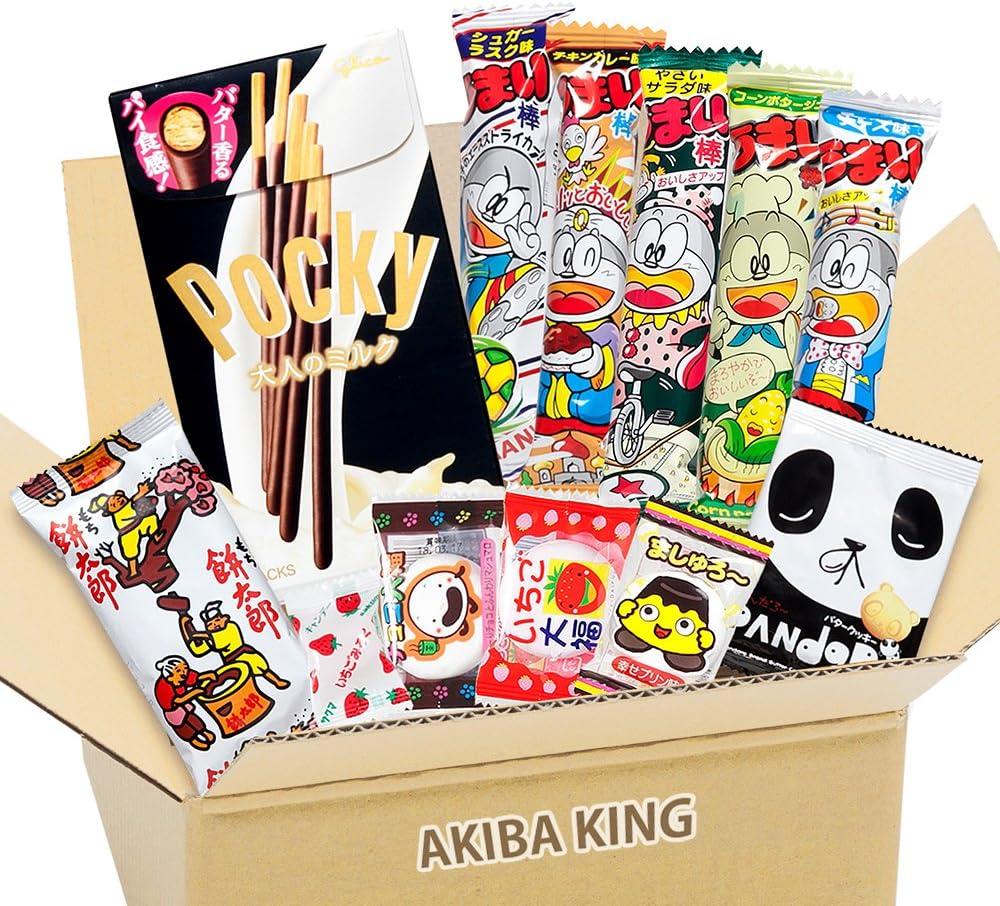 Pocky & Japanese snack DAGASHI con etiqueta AKIBA KING: Amazon.es ...