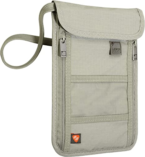 Lewis N. Clark RFID Blocking Stash Wallet, Travel Neck Pouch