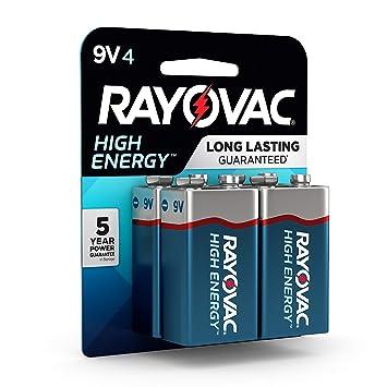 Amazon.com: Rayovac Pilas alcalinas de 9V, A1604-4K, Paquete ...