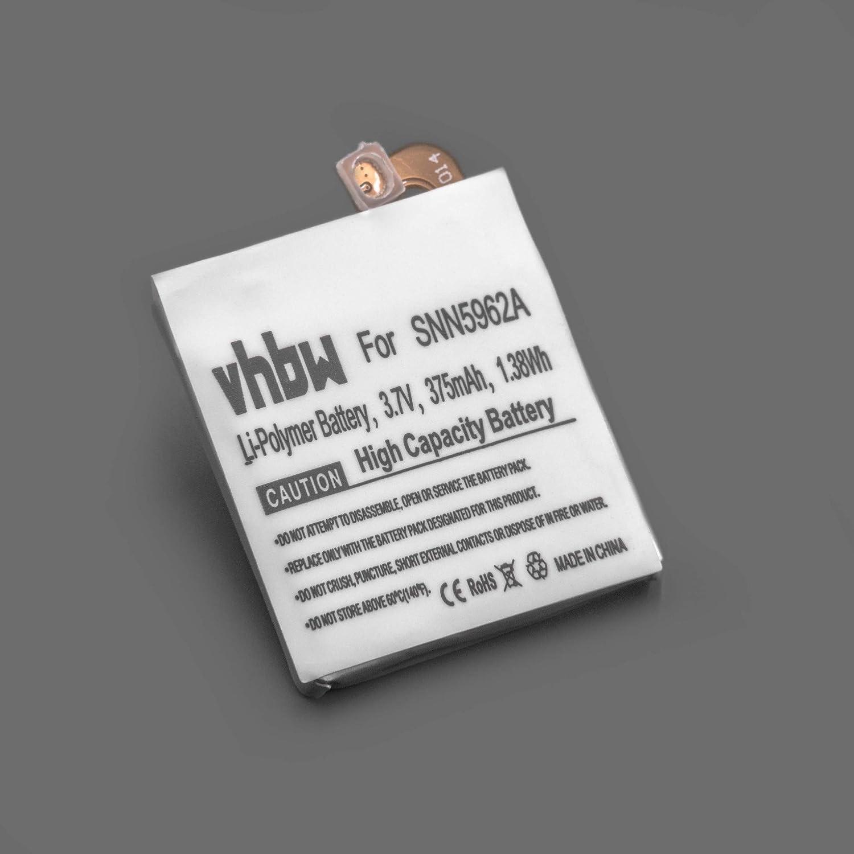 vhbw Litio polímero batería 375mAh (3.7V) para smartwatch ...