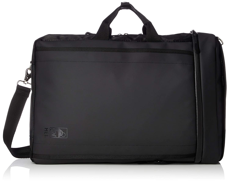 [エムイーアイ] ビジネスバッグ ブラックシリーズPU素材 3WAYビジネスバッグ MDB504 B07FYF11H5 ブラック