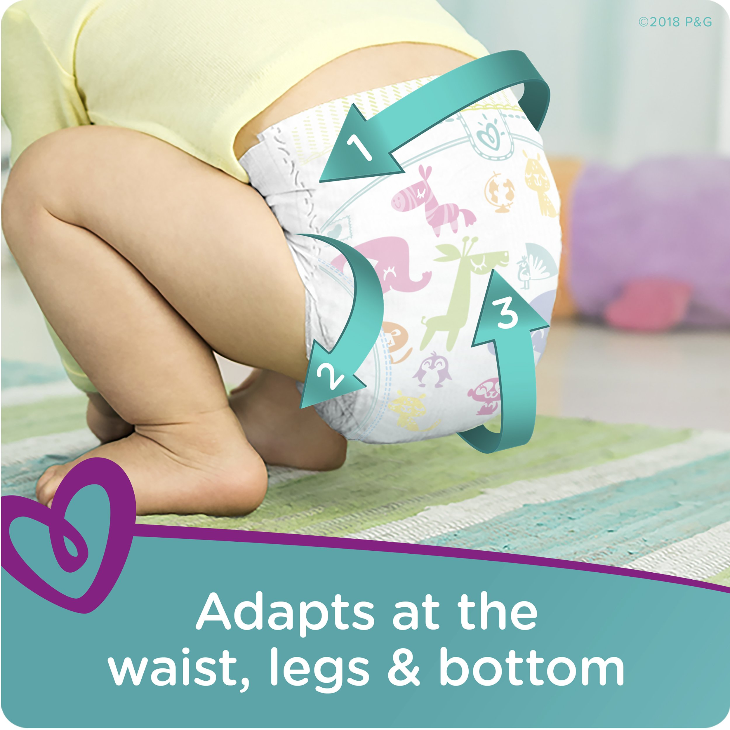 Pampers Cruisers Disposable Diapers Size 6, 108 Count by Pampers (Image #4)