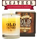 Scented Candles - Leather - Decorative Aromatherapy - 11-Ounce Soy Candle - from Old Factory Candles