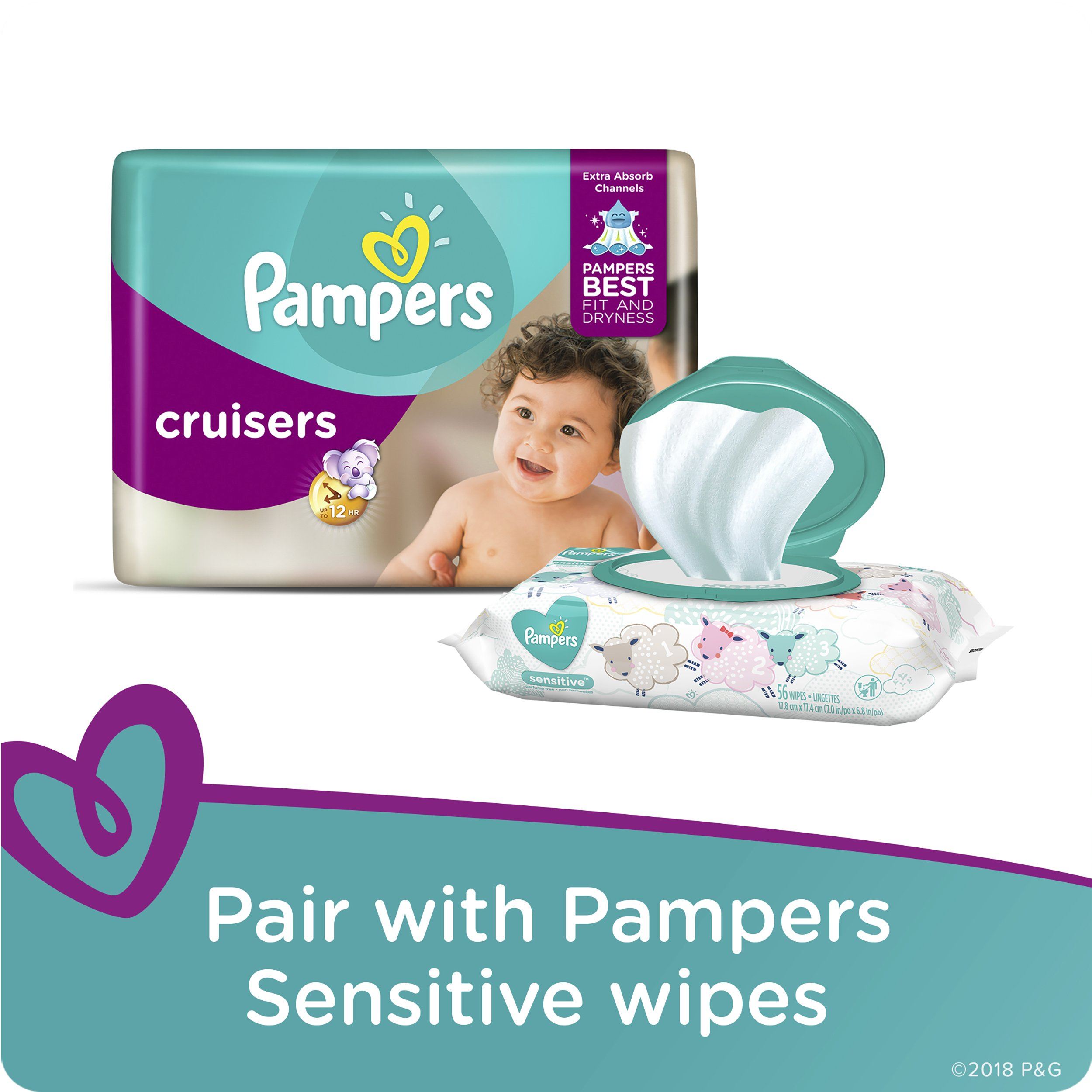 Pampers Cruisers Disposable Diapers Size 6, 108 Count by Pampers (Image #8)