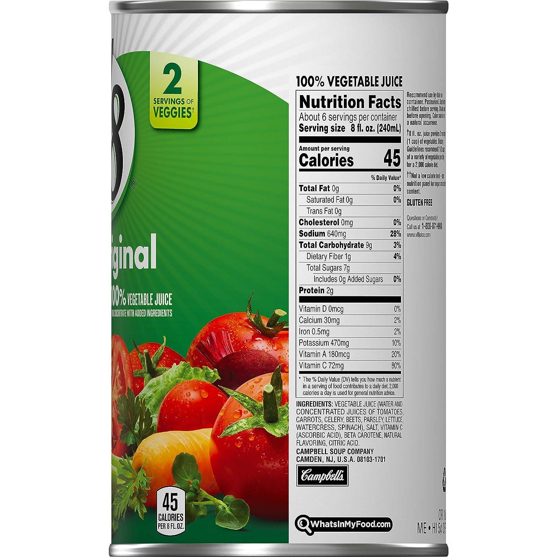 Amazon Com V8 Original 100 Vegetable Juice 46 Oz Bottle Pack