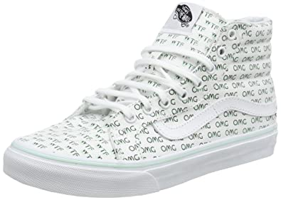 2c60e908d5 Vans Women s Ua Sk8-hi Slim Hi-Top Sneakers  Amazon.co.uk  Shoes   Bags