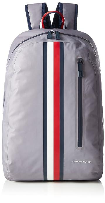 Tommy Hilfiger AM0AM02276- Mochila resistente clima, para hombre, Gris (Frost Gray), 47 x 16 x 32,5 cm: Amazon.es: Zapatos y complementos