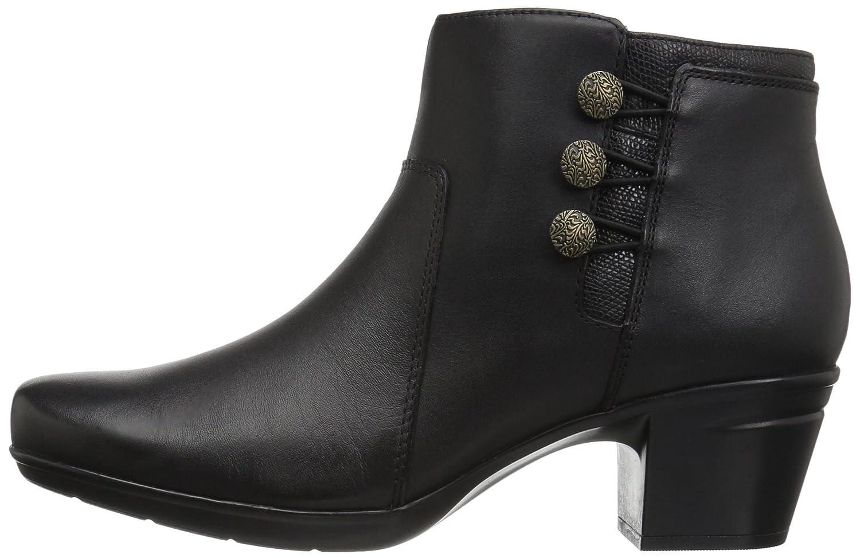 CLARKS Women's B01N2Z1TXG Emslie Monet Ankle Bootie B01N2Z1TXG Women's 11 W US|Black Leather 1e7794