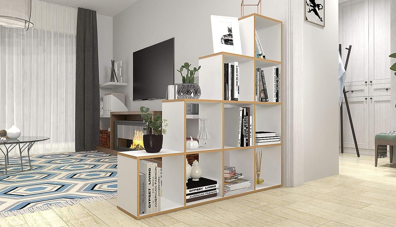 Polini Home Treppenregal Stufenregal Raumteiler Rega Vintage 10 Fach
