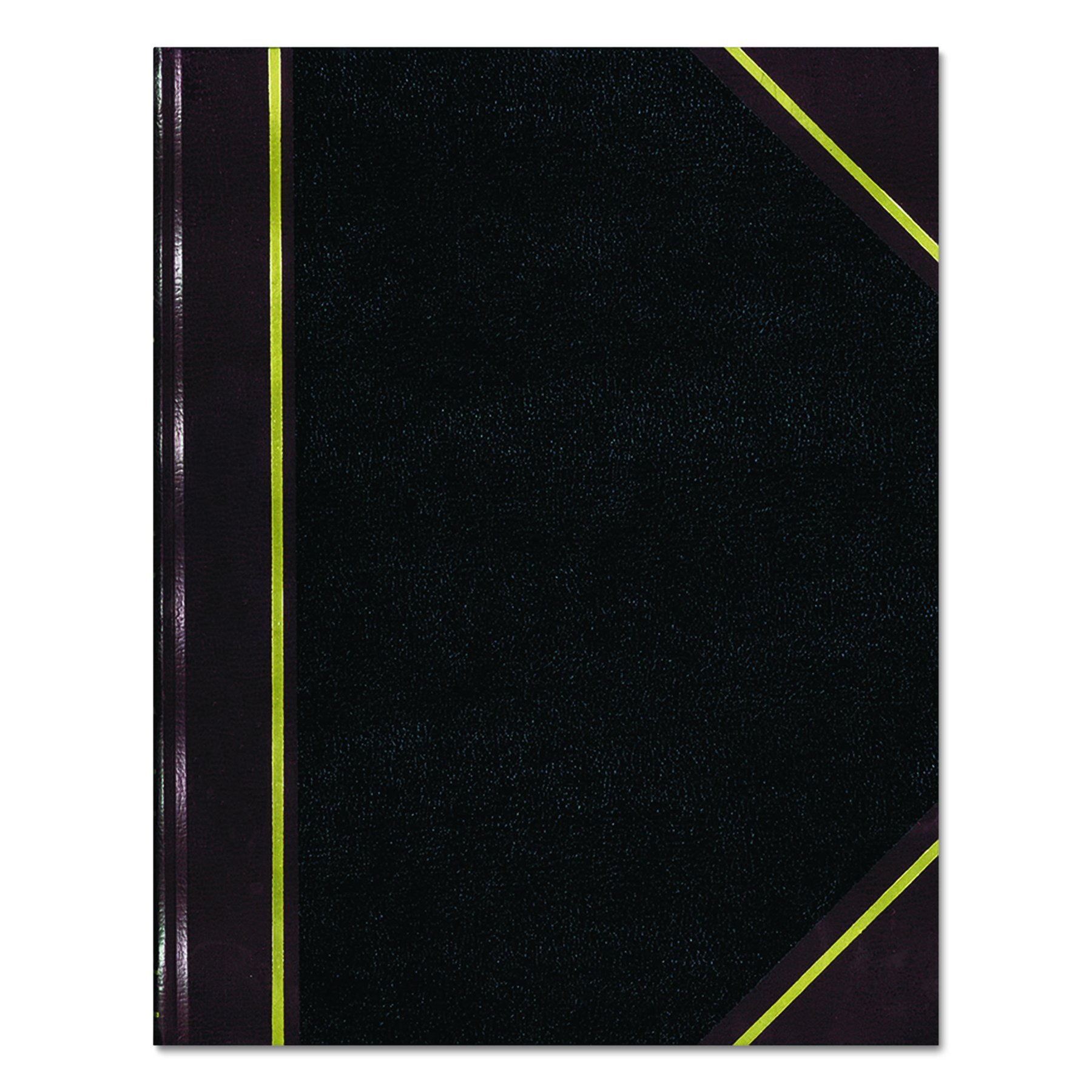 NATIONAL Texhide Series Record Book, Black, 10.375'' x 8.375'', 300 Pages (56231)