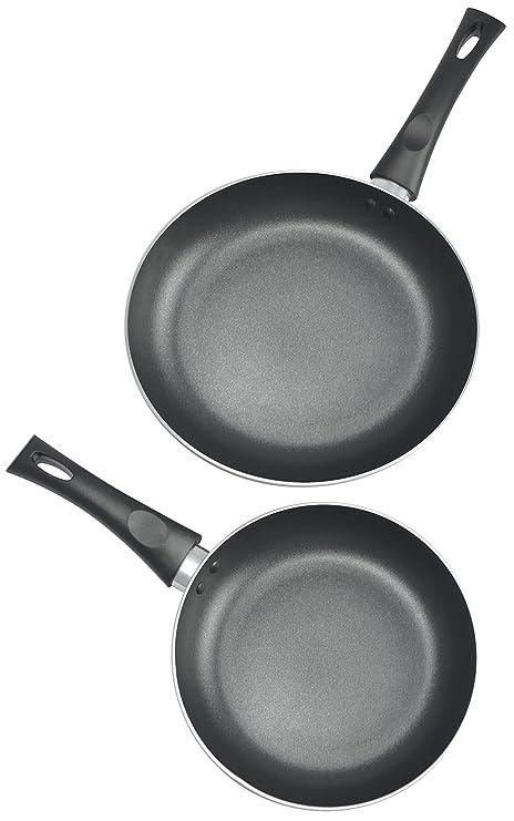 Amazon.com: Cocina Pro antiadherente Fry Pans, 8 y 25,4 cm ...