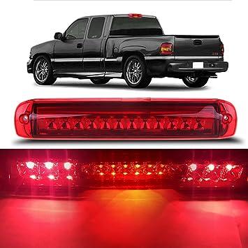 2007 Chevrolet Silverado//GMC Sierra 1500-3500 /& HD Classic Clear Lens Youxmoto LED 3rd Brake Light High Mount Stop Light for 99-06 Chevrolet Silverado//GMC Sierra 1500-3500 1500-3500 HD