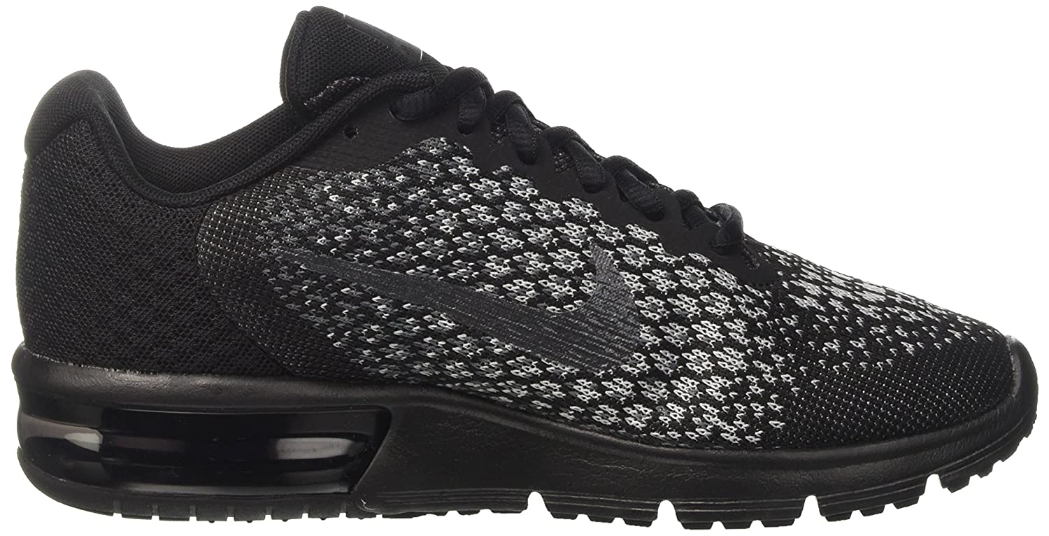 NIKE Men's Air Max Sequent 2 Running Shoe B008FIGCGU 6.5 B(M) US|Black/Mtlc Hematite/Dark Grey