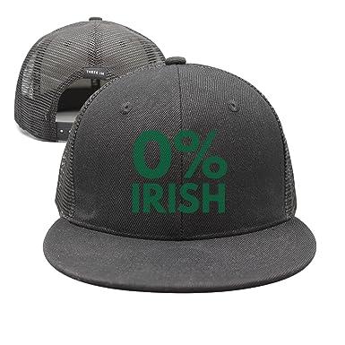 srygjukuu Pattern Funny 0 Percent Irish Visor Hats Adjustable Designer Caps 2b370fb965d