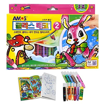 AMOS Glass Deco Window Sticker Art 12 Colors Sets, Model: , Toys & Play: Toys & Games