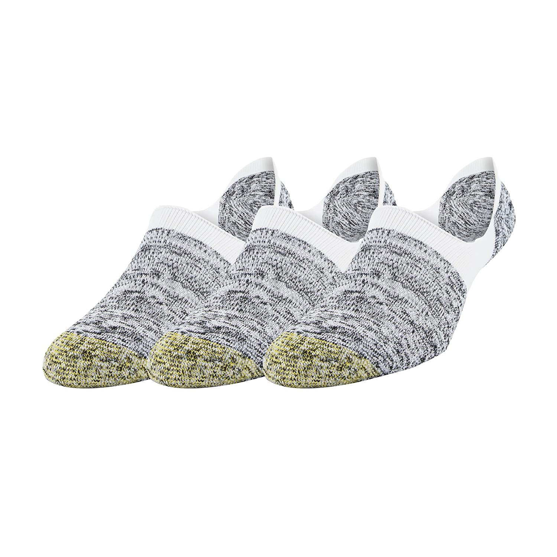 3-Pack Gold Toe Mens Xs Sta-Cool No-Show Marl Tab Socks