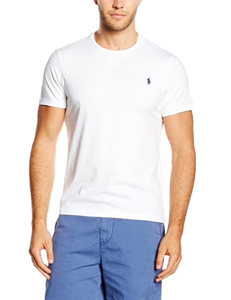 Amazon.com  Polo Ralph Lauren Short Sleeved Crew Neck T-shirt WHITE ... dc98da90433
