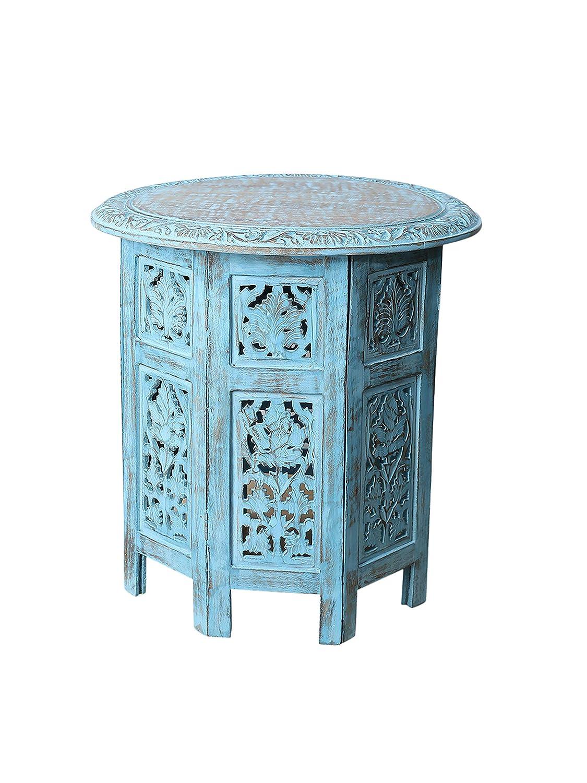 Amazon.com: Artesia - Mesa de café de madera maciza tallada ...