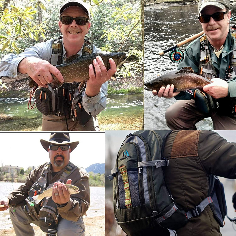 M MAXIMUMCATCH Fishing Vest Pack