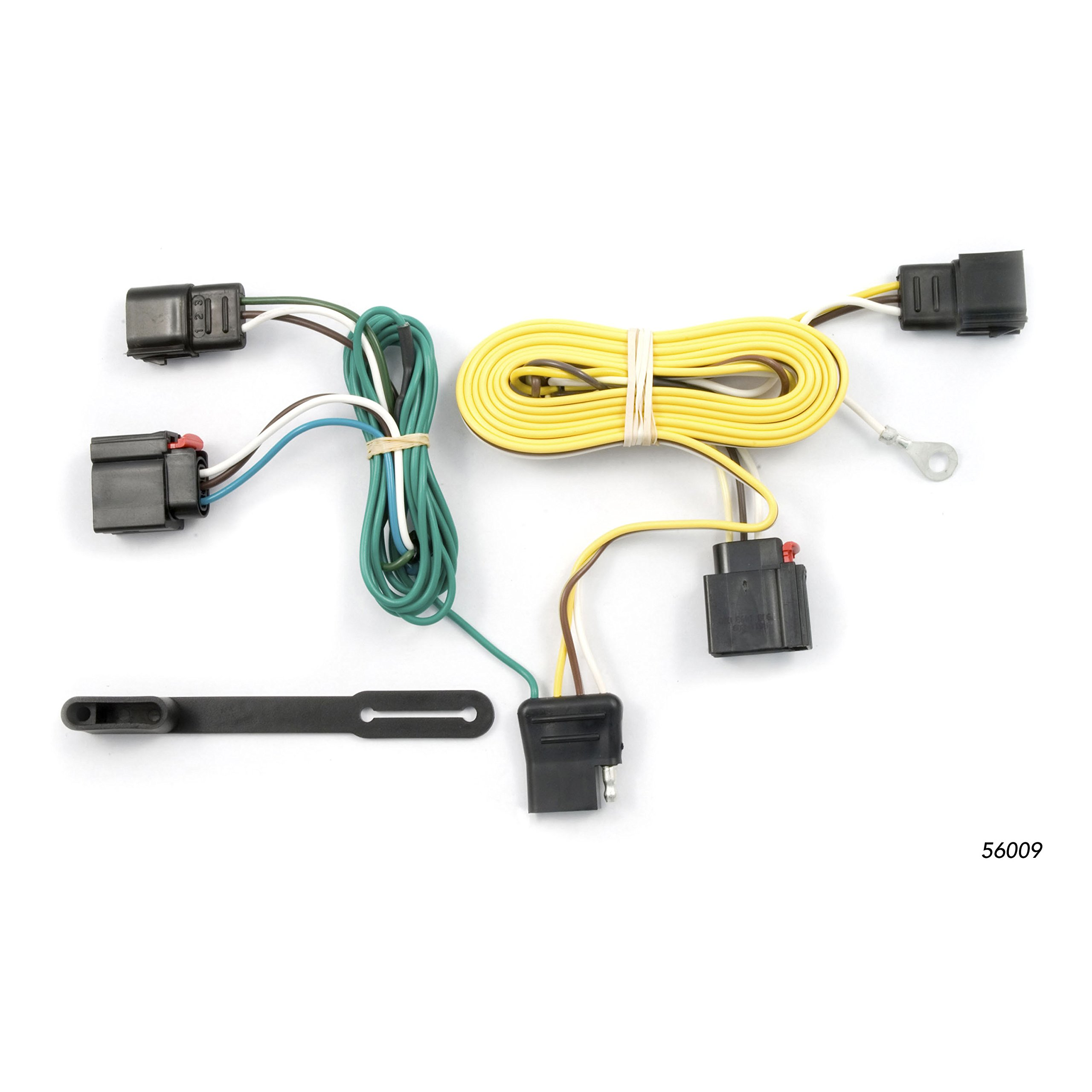 CURT 56009 Vehicle-Side Custom 4-Pin Trailer Wiring Harness for Select Jeep Grand Cherokee by Curt Manufacturing