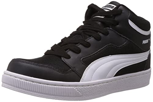 Puma Men s Black and White Synthetic Sneakers (35850101) - 11UK India (46EU b73816462
