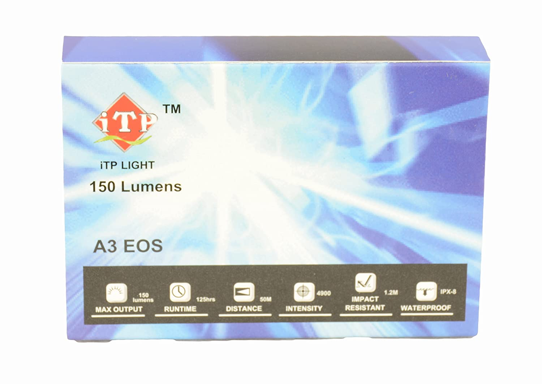 Amazon com: ITP A3 EOS 150 Lumen 3 Outputs and Strobe CREE