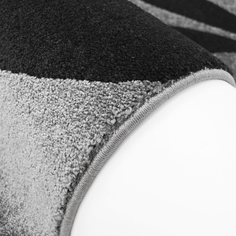Moderner Designer Teppich in in in aktuellen Wohn Farben Öko Tex 100 zertifiziert MOD-1671-blume türkis grau schwarz weiss 80x300 cm 0d67a0