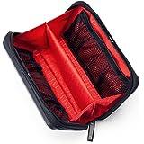 サンワダイレクト トラベルポーチ 充電器ポーチ ハードタイプ PC周辺小物整理 収納ポーチ 旅行 ブラック 200-BAGIN007BK