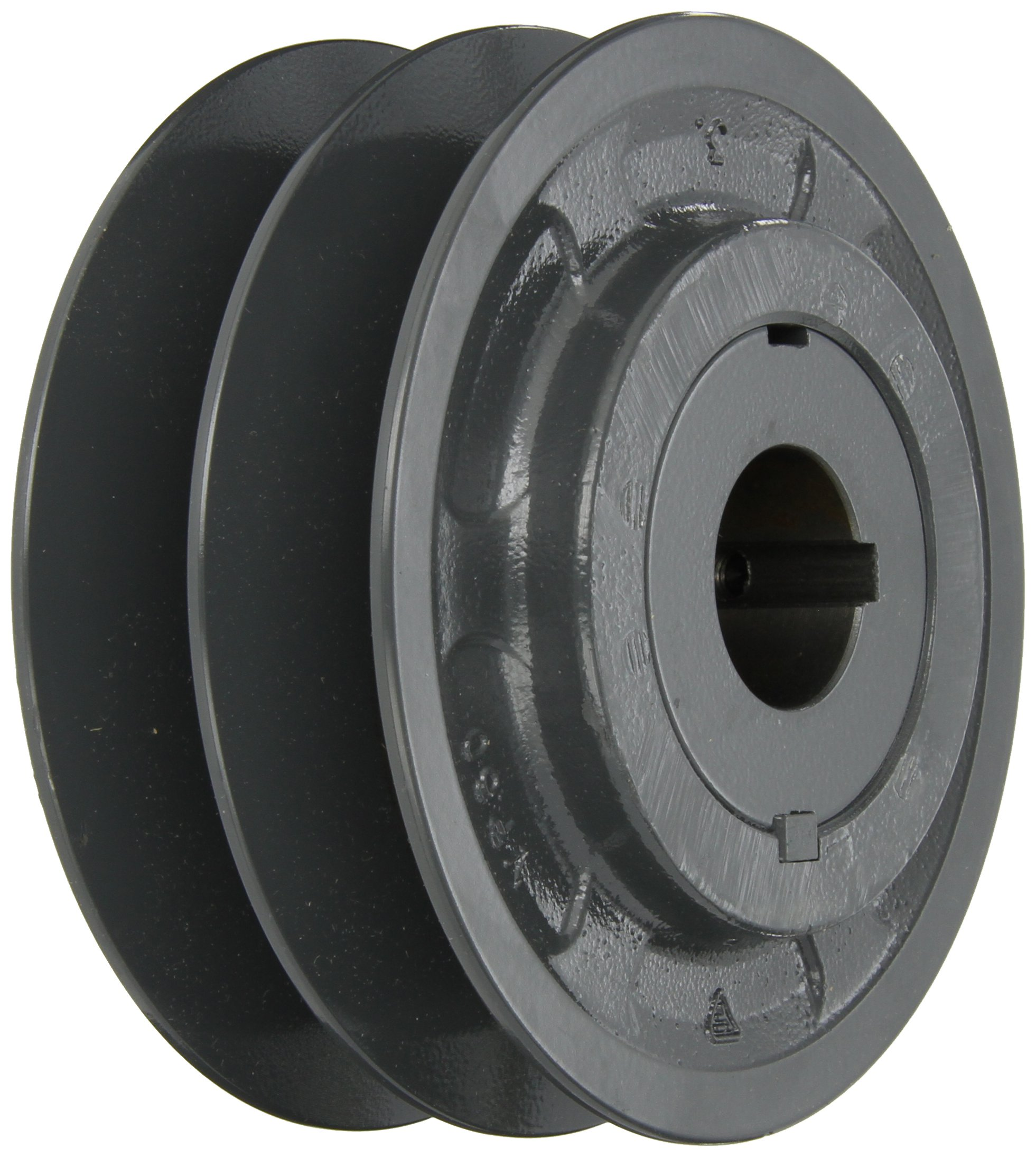Browning 2VP60X 1 3/8 Variable Pitch Sheave, 2 Groove, Finished Bore, Cast Iron Sheave, for 4L or A, 5L or B, 5V Section Belt