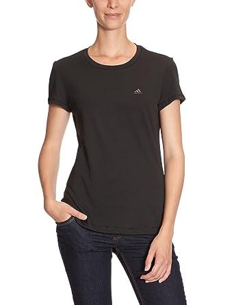 adidas T - Camiseta para mujer, tamaño S, color negro: Amazon.es: Deportes y aire libre