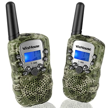 Wishouse Walkie Talkies for Kids,Popular Toys for Boys and Girls Best Handheld Woki Toki with Flashlight,License free Kids Survival Gear for Hunting and Outdoor Adventure(T388 Camouflage 2 Pack)