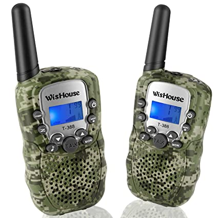 Wishouse Walkie Talkies for Kids,Popular Toys for Boys and Girls Best  Handheld Woki Toki with Flashlight,License Free Kids Survival Gear for  Hunting