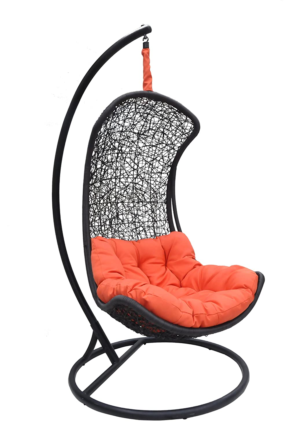 Amazon.com : Clove - Balance Curve Porch Swing Chair - Model - Y9091Bk :  Hammocks : Garden & Outdoor
