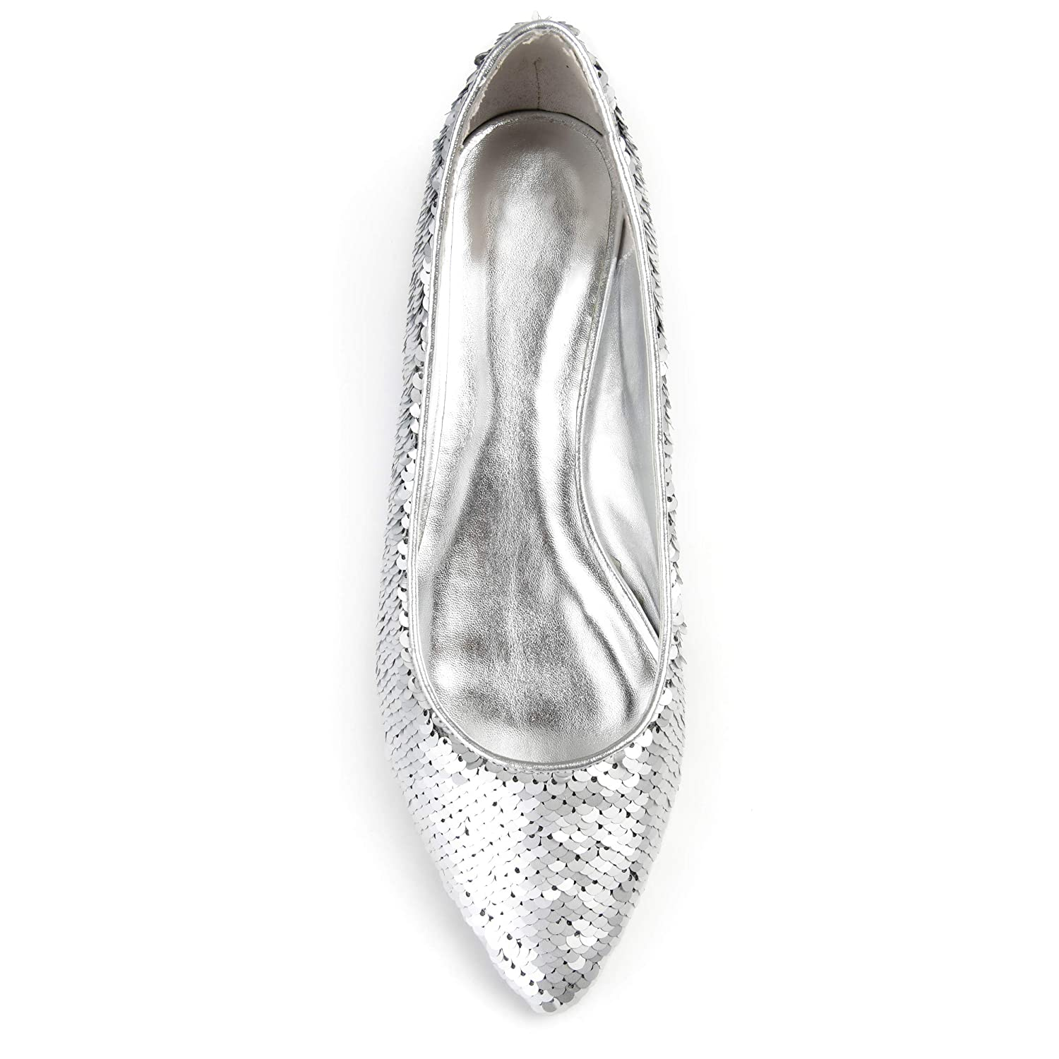 75e0b2abf5058 Brinley Co. Womens Calico Pointed Toe Metallic Sequin Flats
