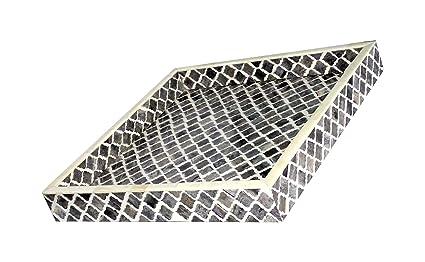 Bandeja de servir gris hueso Made – bandeja de servir (madera con incrustaciones madera de