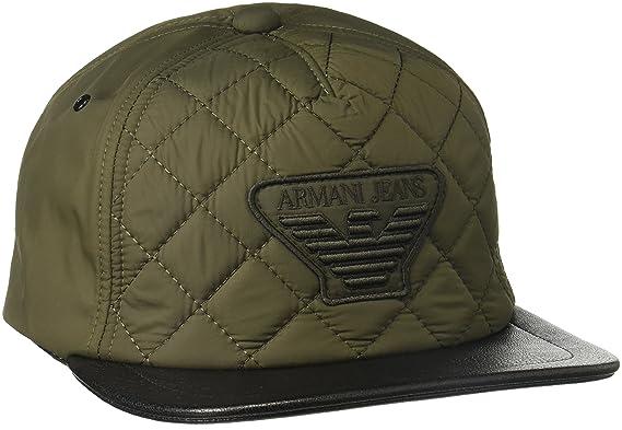 4b8d9aa525743a Armani Jeans Mens Quilted Fabric Logo Baseball Cap Baseball Cap - Green -:  Amazon.co.uk: Clothing