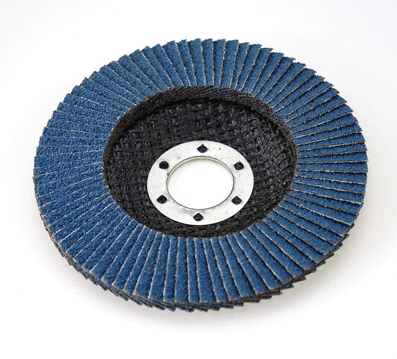Pack of 10/Abrasive Mop Discs Diameter 115/mm Grain 80/Blue//Inox Fan Lock Washer//Abrasive Mop Discs Flap
