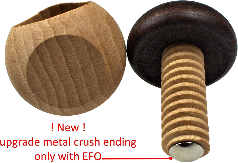 Wood Nerthus FIH 509 Mushroom-Shaped Nutcracker and Screw Mechanism