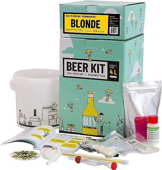 HOPT Beer Kit Beginners: I Brew a Blond Beer – Set de cejas para el hogar – cerveza – cervezas: Amazon.es: Alimentación y bebidas